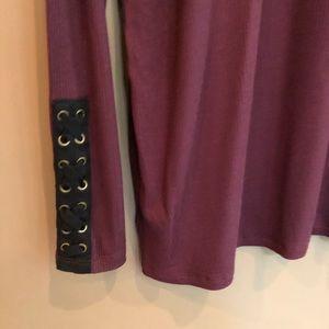 torrid Tops - Torrid Super Soft Ribbed Lace Up Sleeve Top 3X
